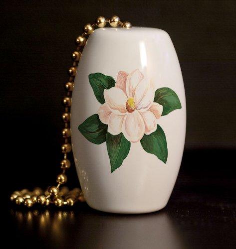 Lone Magnolia Porcelain Fan / Light Pull (Porcelain Magnolia)