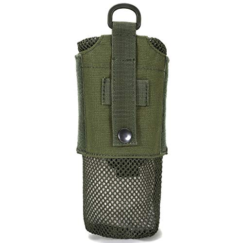 Faleto Mesh Lightweight Water Bottle Carrier Insulated Drawstring Water Bottle Holder Tactical Molle Water Bottles Pouch Bag,Army - Mesh Holder Bottle