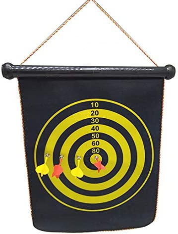 "+Urbano 15"" Magnetic Dartboard Sets 6 Reversible Darts"