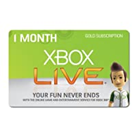 One Month XBOX 360 LIVE GOLD Membership Subscription for Microsoft XBOX 1 MONTH