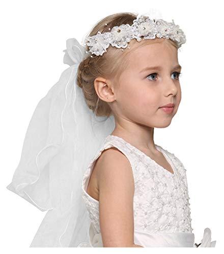 Girls Communion Veils - Bienvenu First Communion Flower Girl Bow