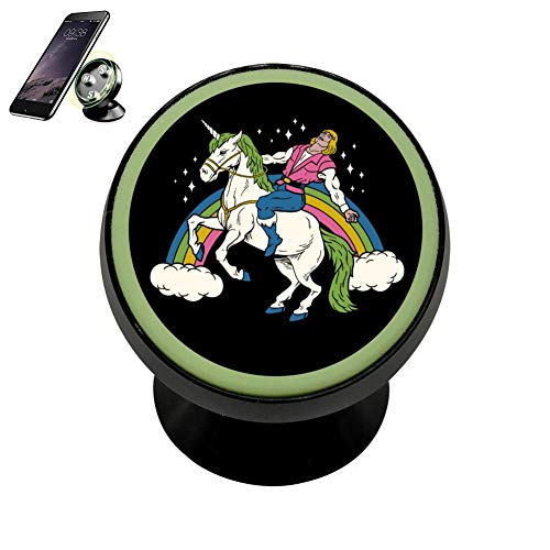 MagicQ Fashion Design Noctilucent Magnetic She-Man Ride Unicorn Phone Car Mount Holder