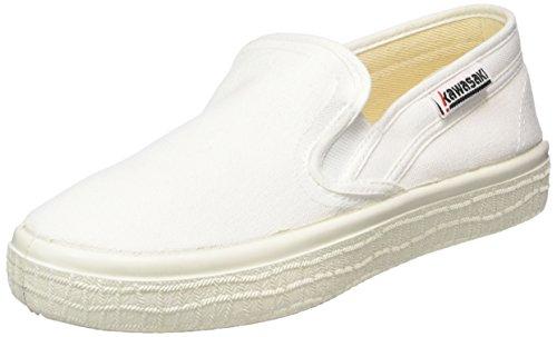 Kawasaki Sab, Slim - Zapatillas Unisex adulto Blanco - Weiß (White, 01)