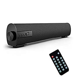 Portable Soundbar for TV/PC, Outdoor/Indoor Wired & Wireless Bluetooth Stereo Speaker with The Newest Remote Control, 2…