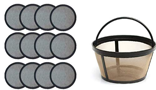 FOR Premium Water Filter Disks for Mr. Coffee Machines+Reusable Basket Filter