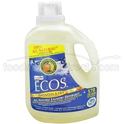 Earth Friendly 2X Ultra Ecos Magnolia and Lilies Laundry Detergent Liquid, 170 Fluid Ounce -- 2 per case. by Earth Friendly