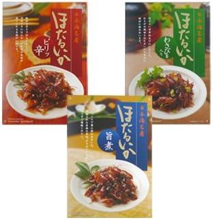あいば食品 日本海名産 ほたるいかセット/旨煮、ピリッ辛、わさび茎入り