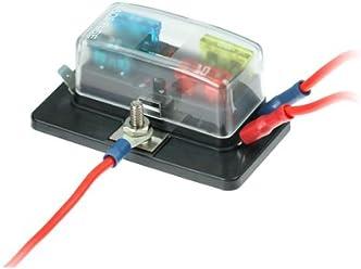 KFZ Sicherungshalter 6-fach mit Status LED f/ür Flachstecksicherungen ohne Sicherungen