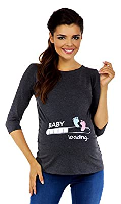Zeta Ville Maternity - Womens Pregnancy funny Baby Feet T-shirt Top 50% OFF 549c
