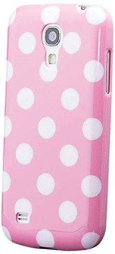 Samsung Galaxy S4 MINI   iCues Polka Dot Case Rose   [Screen Protector Included] Durable Fashion Shell Cute Glossy Cover TPU Pattern Women Girl - Samsung S4 Mini Case Female