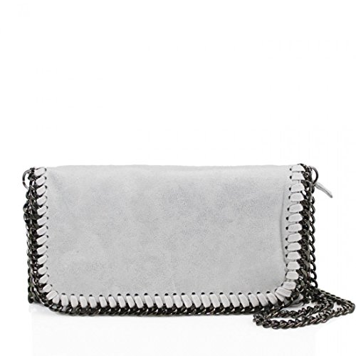 Ladies Shoulder Body Work Womens Designer Chain Cross New Bag Light bag Grey Detail YDezire® 0Bgq8