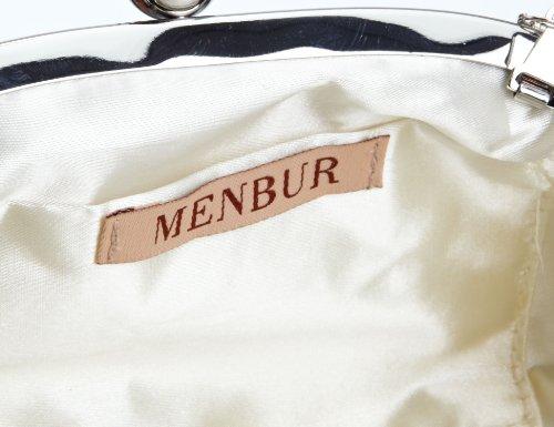 Menbur Wedding Kashia 83141 Damen Clutches 18x12x10 cm (B x H x T) Elfenbein (Ivory 04) FWbzh0