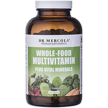 Dr Mercola Whole Food Multivitamin PLUS Tablets - 240 per Bottle - 30-day Supply - High-Potency Antioxidant Formula - Vital Minerals - Supports Healthy ...
