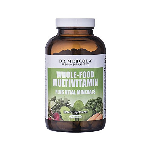 Dr Mercola Whole Food Multivitamin PLUS Tablets – 240 per Bottle – 30-day Supply – High-Potency Antioxidant Formula – Vital Minerals – Supports Healthy Vision, Immune System, Muscles, Vision & More