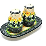 Polish Pottery Salt & Pepper Set - Daffodil