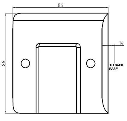 Knightsbridge CU4G Curved Edge 4 Gang Modular Faceplate White