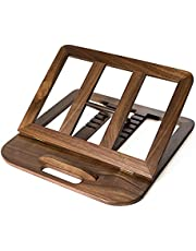 HITTITE Laptop Stand, Foldable Wooden Laptop Riser Adjustable Computer MacBook Stand Universal Notebook Laptop Holder with Multiple Angles for Laptops Up to 15.6 inches (Walnut/ Beech (Walnut)