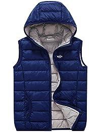Wantdo Girl's Packable Puffer Down Vest Hooded Lightweight Sleeveless Jacket