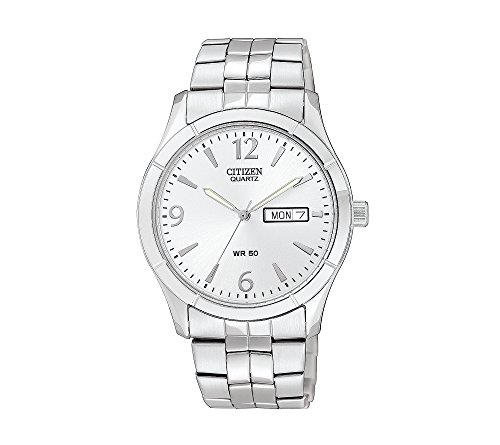 Citizen-Mens-Stainless-Steel-Watch-With-Silver-Dial