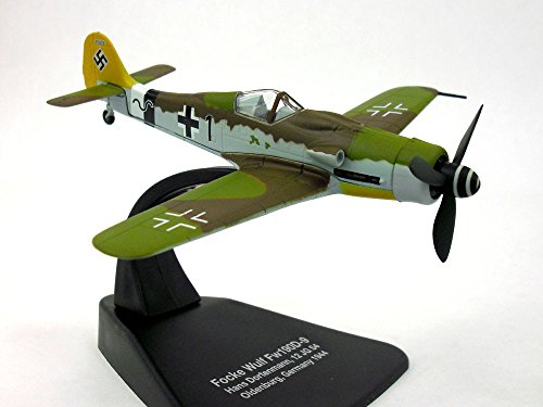 Focke Wulf Fw-190 (Fw-190D) German AF 1/72 Scale Diecast Model by Oxford (Fighter Bf 109)