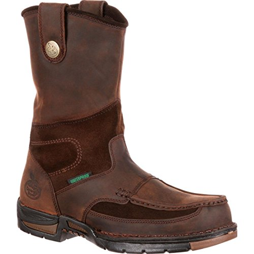Georgia Boot Men's Georgia Athens Wellington Work Boot Work Shoe, Brown, 12 M US