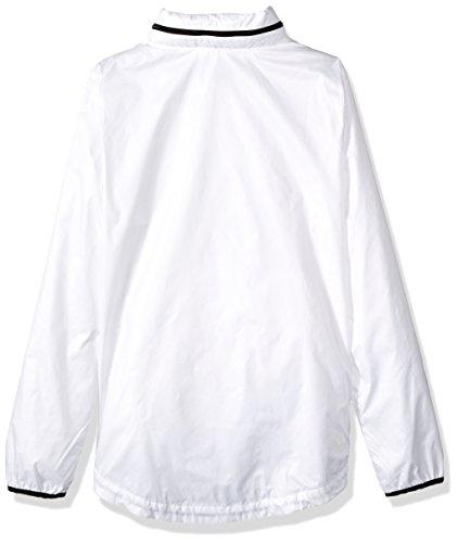 adidas Women's Linear Windbreaker Jacket, White, Large by adidas (Image #2)