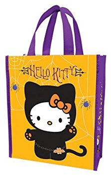 - (10x12) Hello Kitty - Happy Halloween Small Recycled Shopper Tote Bag