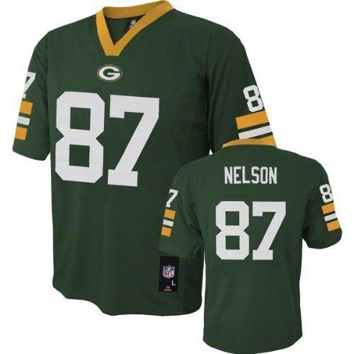 Jordy Nelson Green Bay Packers Green NFL Kids 2013-14 Season Mid-tier Jersey (Kids ()