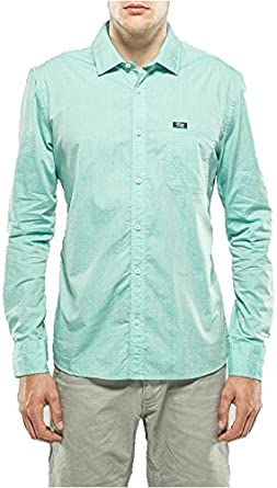 Petrol Industries Camisa Manga Larga Hombre Verde Agua con ...
