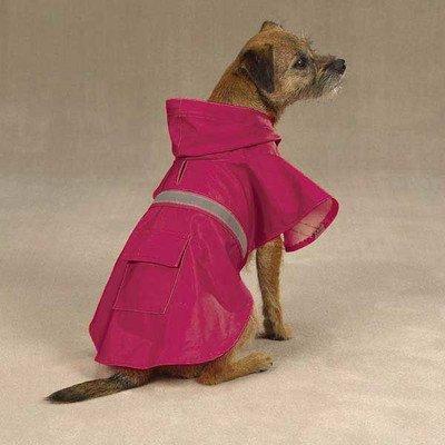 Guardian Gear Brite Rain Jacket for Pets, X-Small, Raspberry