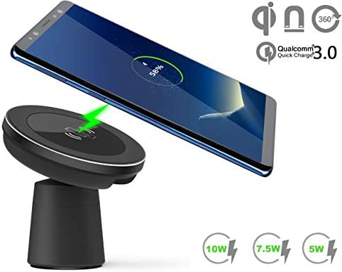 official photos e8317 f91cd Magnetic Wireless Car Charger, WYNK Car Mount Phone Holder Fast Charging  Compatible for Apple iPhone Xs/XS Max/XR/X/8/8 Plus,Samsung Galaxy ...