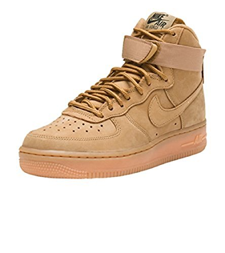 Nike Air Force 1 Hi PRM Women's Shoes Flax/Flax/Outdoor Green 654440-200 (9 B(M) US)
