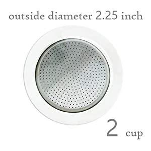 Bialetti 3 gasket and 1 alluminium filter for coffee pot 2 cups from Bialetti