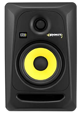 KRK Rokit 5 G3 Studio Monitor Speaker Bundle with Two Monitors, Stands, XLR Cables, and Austin Bazaar Polishing Cloth by KRK