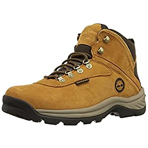 Timberland Men's White Ledge Mid Waterproof Hiking Boots Wheat 10 M & Cap