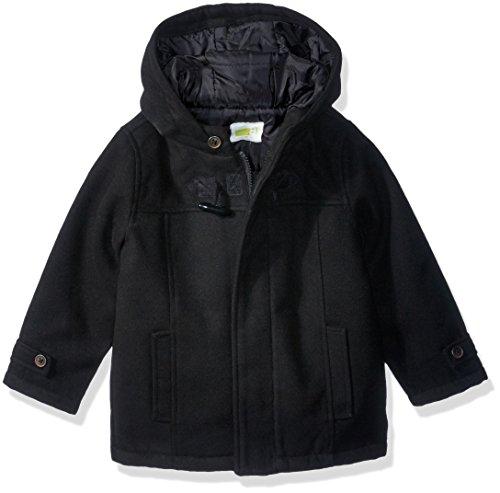 Crazy 8 Boys' Toddler Hooded Coat, Black, 18-24
