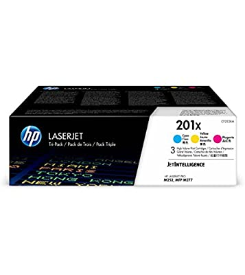 HP 201X (CF253XM) Cyan, Magenta & Yellow High Yield Original LaserJet Toner Cartridge, 3 pack