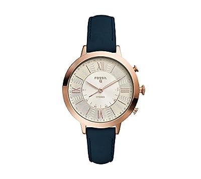 Fossil Women's Blue Leather Strap Hybrid Smart Watch