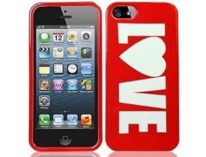 Red Love Hard Plastic Design Case for Apple iPhone 5 5G