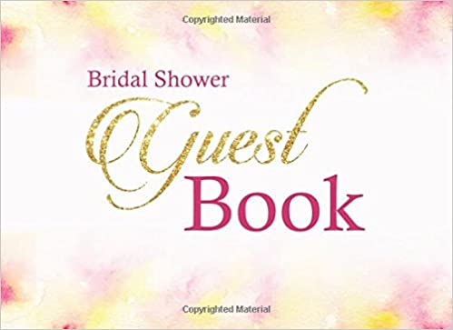bridal shower guest book wedding journal wishes book bridal shower wishes book bride journal 150 lined pages guest book for wedding 9781545277867