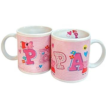 Taza Y esJuguetes Peppa Ceramica StripesAmazon Juegos Pig kXuPZOTi