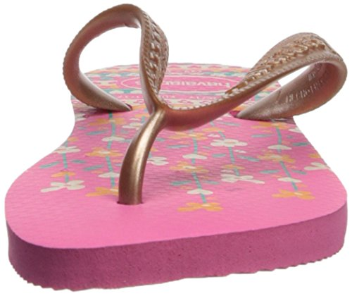Havaianas Kids Flores Sandal, Shocking Pink/Rose Gold 23/24 BR/Toddler (9 M US) - Image 4