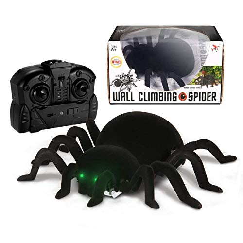 MECO Spider Scary Toy Wall Climbing Remote Control Realistic RC Prank Spider Holiday Halloween Christmas Children's Day April Fools Day Gift -