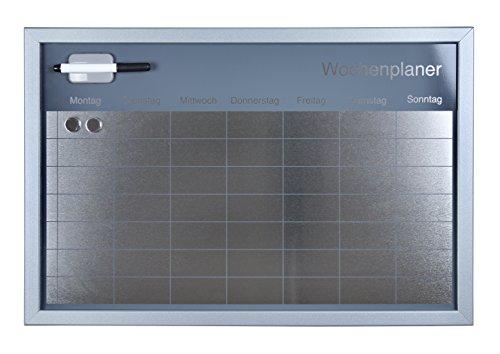 Kühlschrank Wochenplaner : Amazon.de: wochenplaner magnettafel 60x40cm silberner rahmen silber