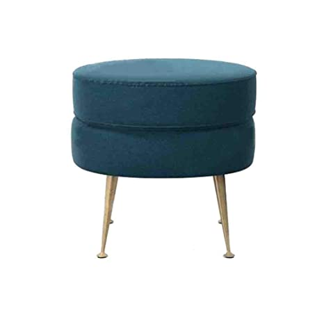 Peachy Amazon Com Ycsd Nordic Fashion Round Vanity Stool Metal Leg Caraccident5 Cool Chair Designs And Ideas Caraccident5Info