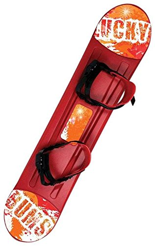Lucky Bums Snow Kids Snowboard, 120cm, Red