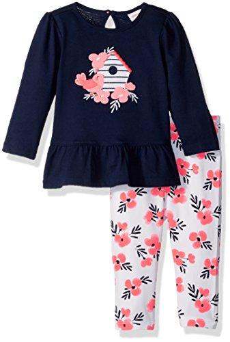 (Gymboree Boys' Toddler Baby Girl Long Sleeve Set, Birdhouse Floral, 3-6 mo)