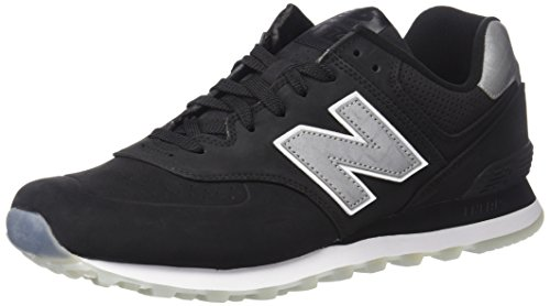 New Balance Mens 574 Classic Traditionnels Synthetic Trainers nero