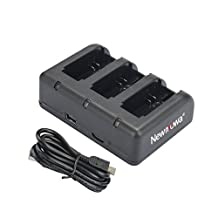 Newmowa Rapid 3-Channel USB Charger for Gopro AHDBT-301,AHDBT-302,ANewmowa Rapid 3-Channel USB Charger for Gopro AHDBT-301,AHDBT-302,AHDBT-401 and Gopro Hero 3,Hero 3+,Hero 4 CameraHDBT-401 and Gopro Hero 3,Hero 3+,Hero 4 Camera