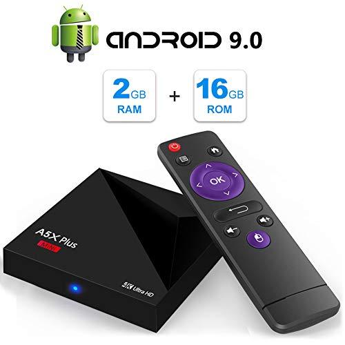 Android TV Box, A5X Plus Mini Android 9.0 2GB RAM/16GB ROM RK3328 Quad-Core 64bit Cortex-A53 TV Box Support 2.4G WiFi Ethernet 10/100M DLNA 3D 4K Mini TV Box